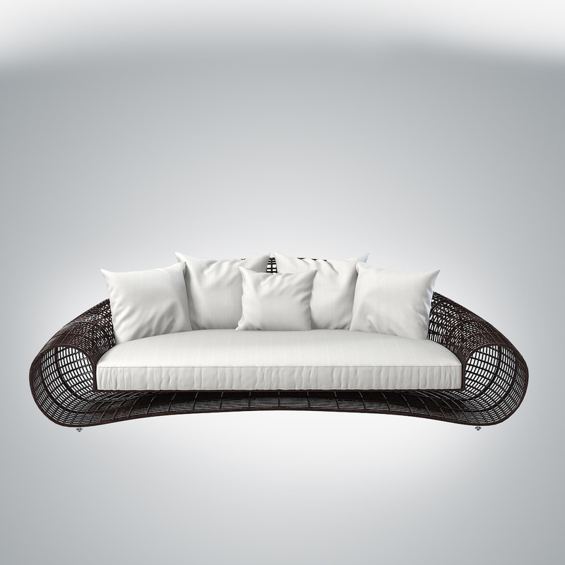 obj kenneth cobonpue croissant sofa