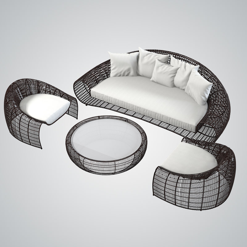 3d kenneth cobonpue outdoor furniture model