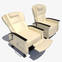 3d model hospital therapy chair recliner