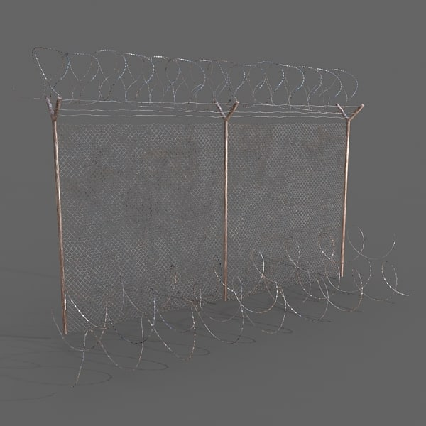 3d barb wires model