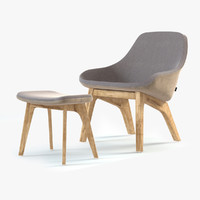 Morph Lounge Chair and Pouf