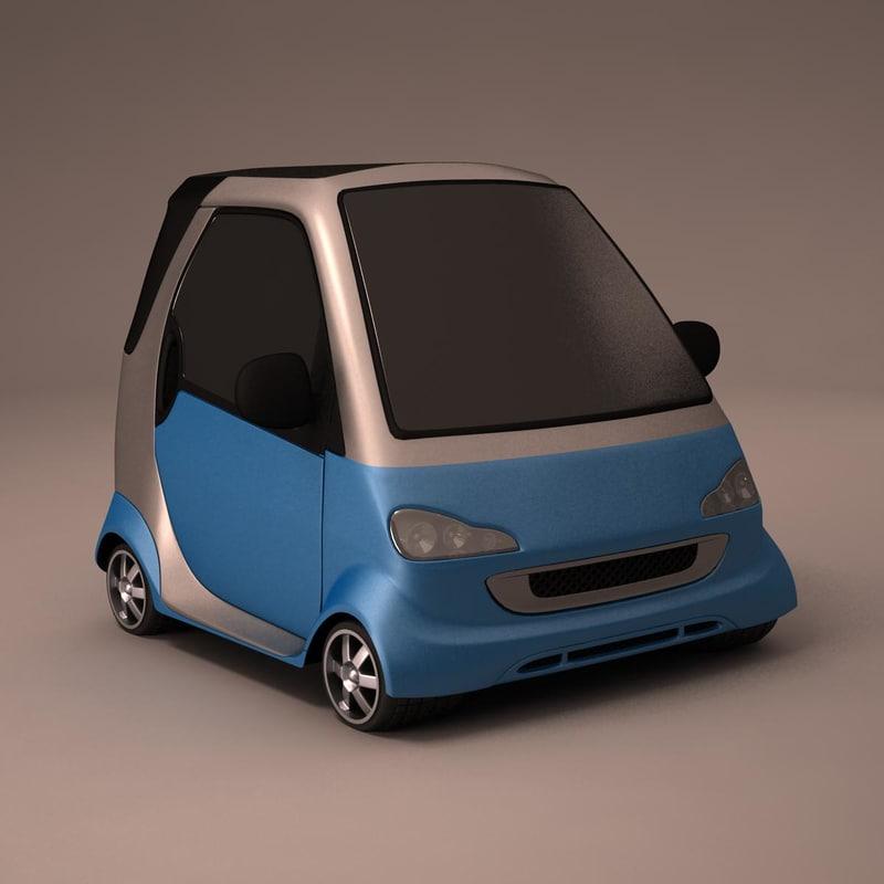 3d model smart toon car