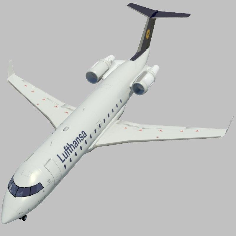 3d model jet airplane lufthansa