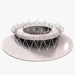 3d model olympic stadium london