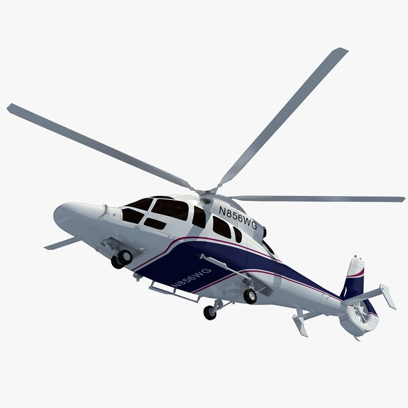 eurocopter ec155 helicopter 3d 3ds