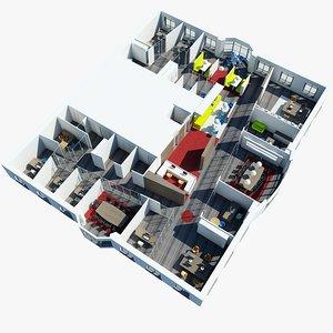 3d office interior 2
