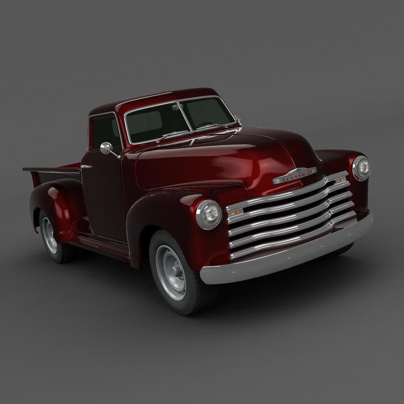 chevrolet truck 1949 3d max