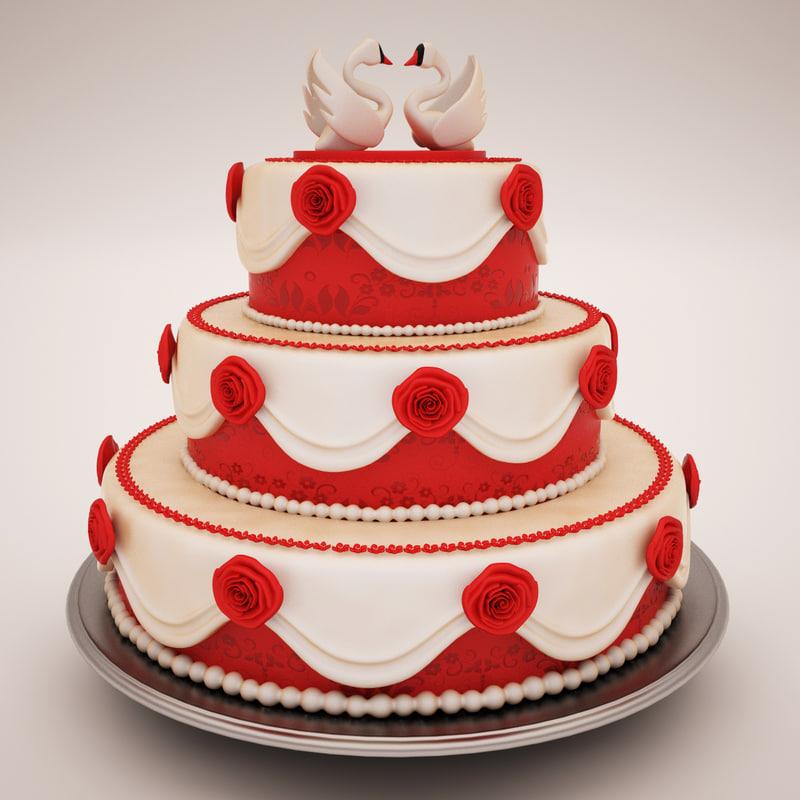 wedding cake 3d max