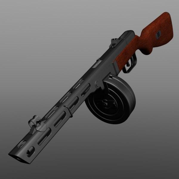 3dsmax rifle weapon