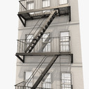 fire escape 3D models
