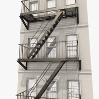 High Quality 3d Escape Stair Systems Model