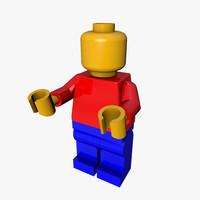 lego minifig 3d c4d