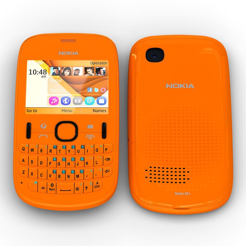 3ds max nokia asha 201 orange