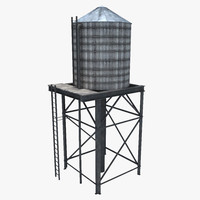 3ds old wooden water tower