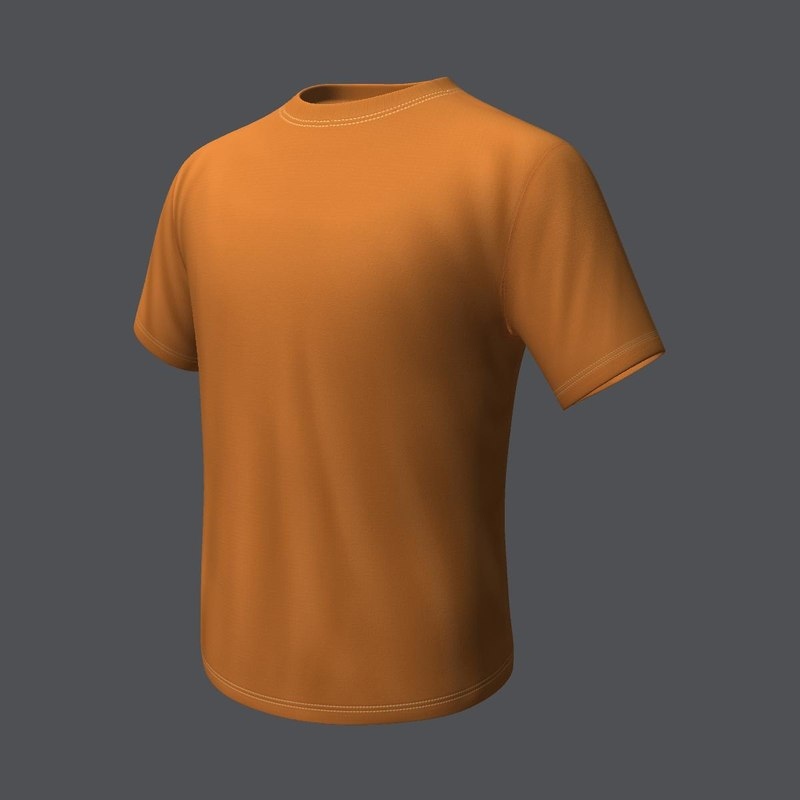 3d model t-shirt product