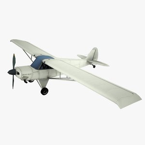 husky a-1a aviation 3d model