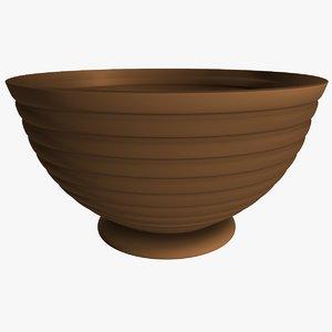 3d clay jar model