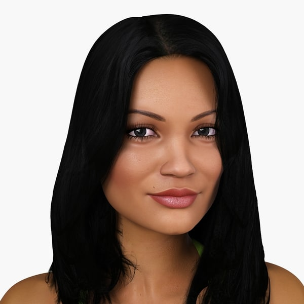 3d latin-american woman character derika