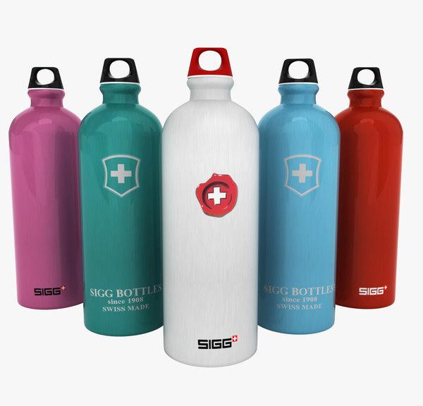 sigg water bottles 3d model
