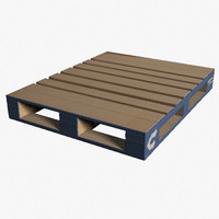 wood pallet 3d obj