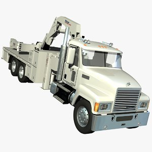 mack chu truck tire 3d lwo