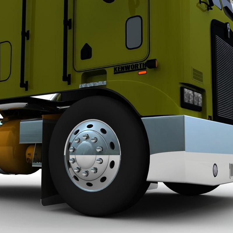 k100 truck long frame 3d model