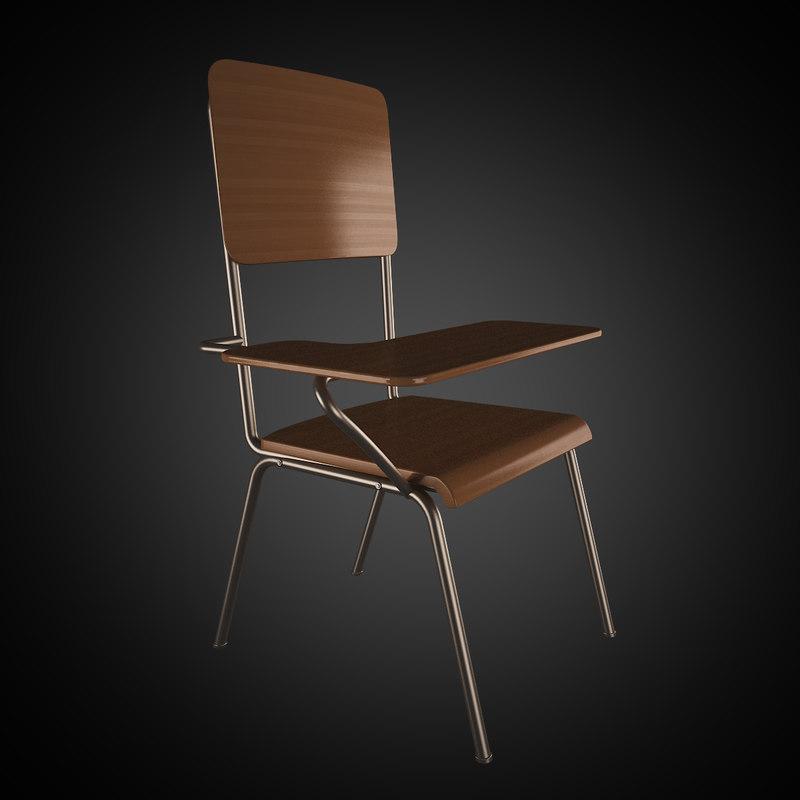 classroom chair 3d 3ds