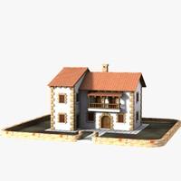 3d authentic house cottage