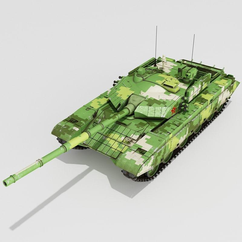 chinese tank 2 3d model