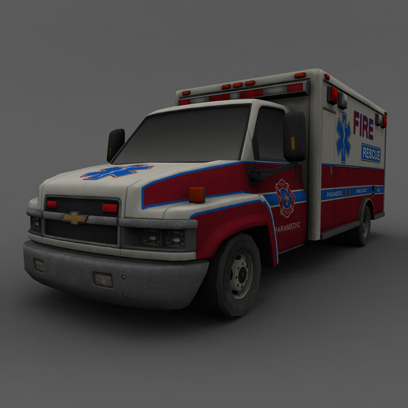 3ds max chevrolet rescue car