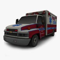 3ds max chevrolet rescue car