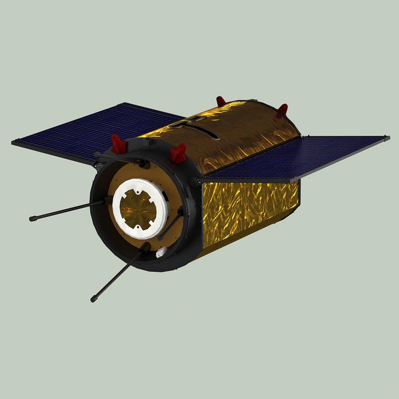 satellite netherlands 3d model