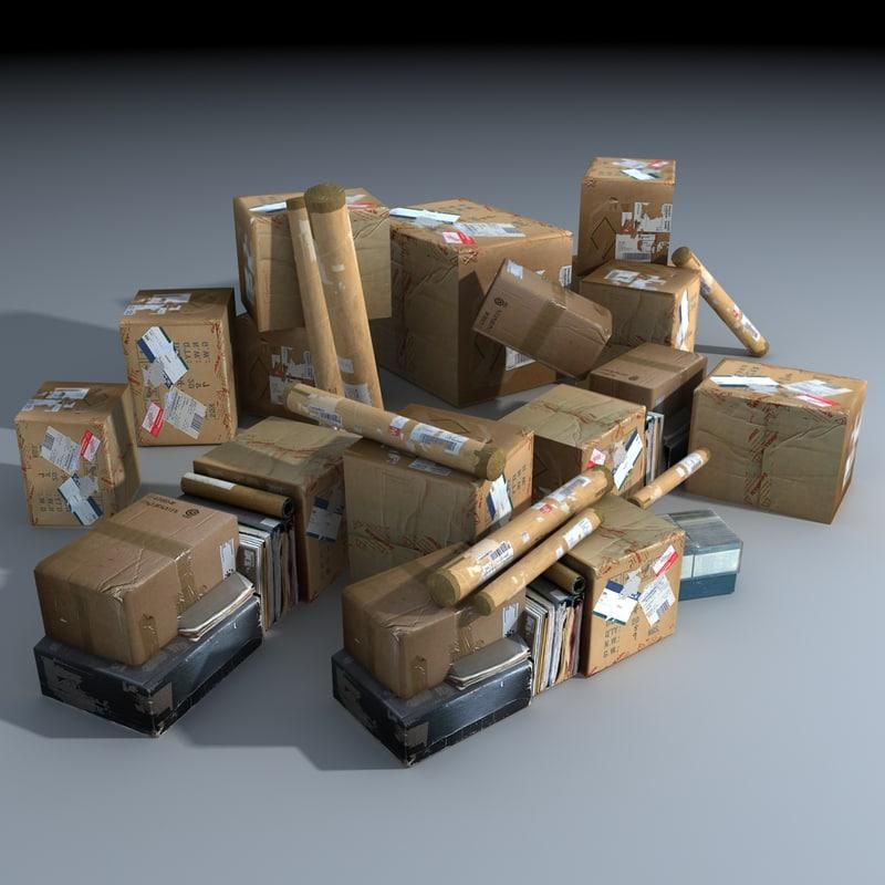 warehouse clutter 3d max