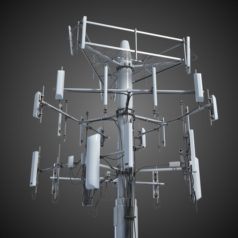 communication tower antena 3 3d model