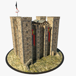 medieval dungeon 3d obj