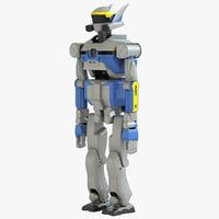 3d model humanoid robot hrp-2 promet