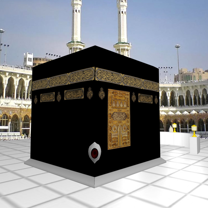3d kaaba black stone model