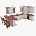kitchen set 3D models