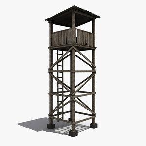 guard tower 3d model