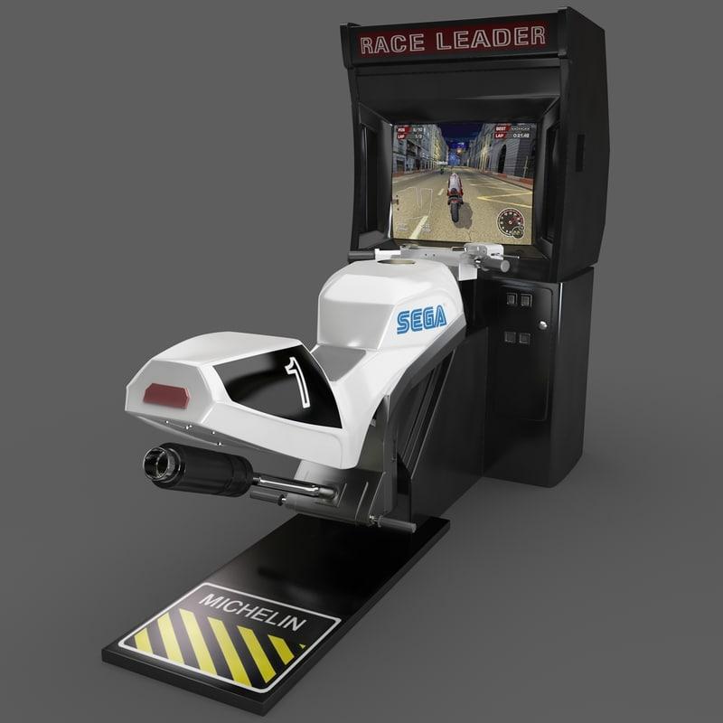 3d model racing simulator superbike