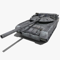 russian battle tank black 3d max
