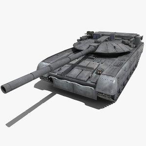 russian battle tank black 3d max