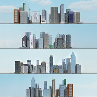 city 1 10 blocks 3d max