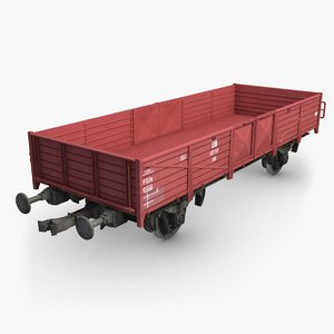 cargo train wagon 3d c4d