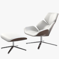 COR Shrimp Lounge Chair & Ottoman