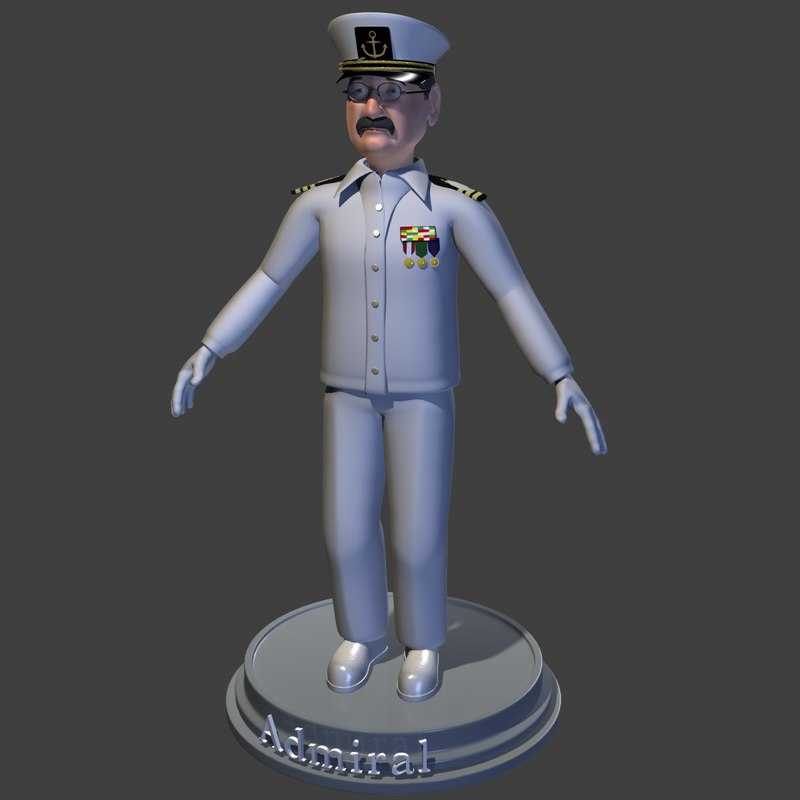 3ds max admiral man male
