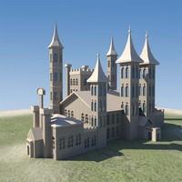 3d model castle versions