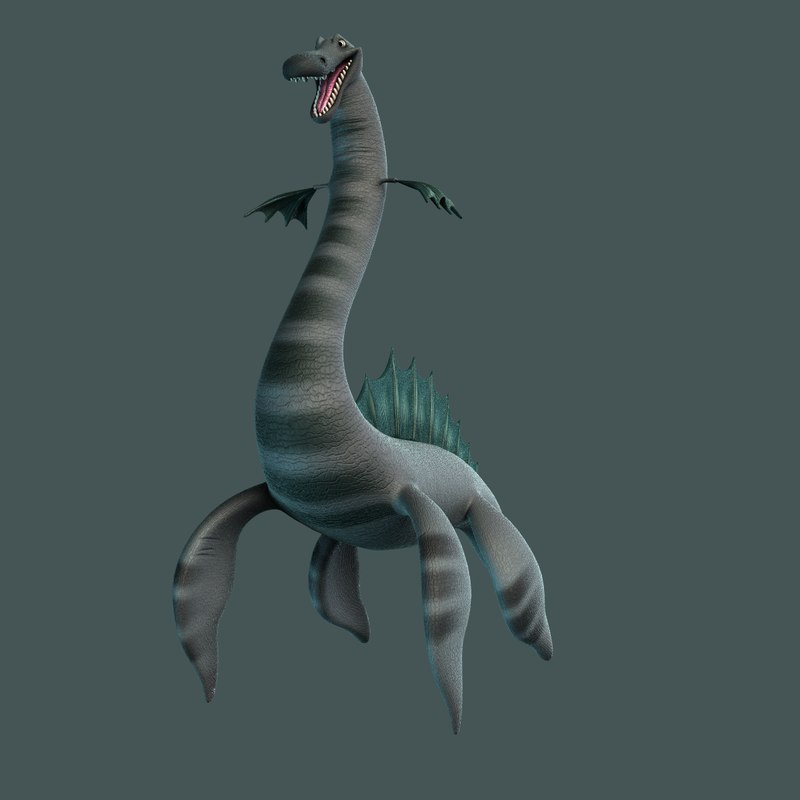 sea monster 3d obj