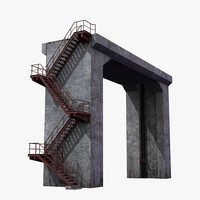 3d industrial construction pipe