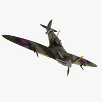 3d spitfire fighter aircraft model